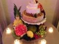 Cheese Wedding Cake with fresh fruit