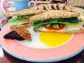 Felta breakfast sandwich