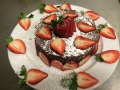 Mexican Chocolate cake with strawberries