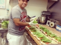 Mauricio making delicious sandwiches for a donation for an event