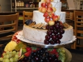 Beautiful & creative gourmet cheese wedding cake