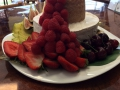 Birthday Gourmet cheese cake surrounded with fresh fruit