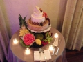 Cheese Wedding Cake with fresh fruit