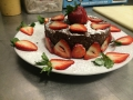 Mexican Chocolate cake with strawberriesIMG_3245